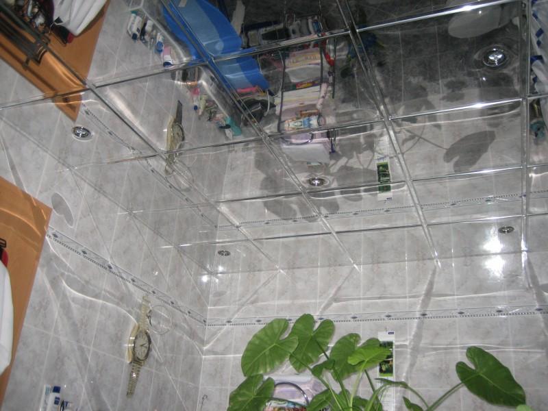 Чем хорош зеркальный потолок в ванной.